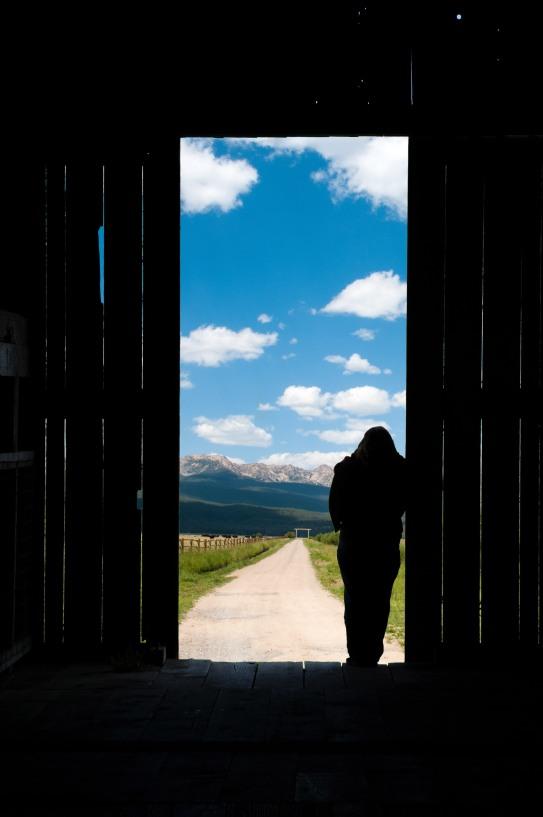 barn door looking on Idaho